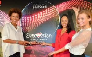 Arabella Kiesbauer, Alice Tumler and Mirjam Weichselbraun, presenters of Eurovision 2015